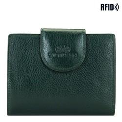 Damski portfel ze skóry klasyczny, zielony, 21-1-362-ZL, Zdjęcie 1