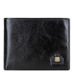 Męski portfel ze skóry rozkładany, czarny, 22-1-039-11, Zdjęcie 1