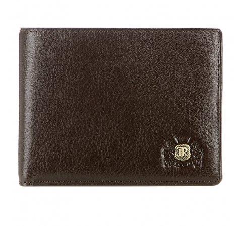 Męski portfel ze skóry stębnowany, Brązowy, 22-1-173-4, Zdjęcie 1