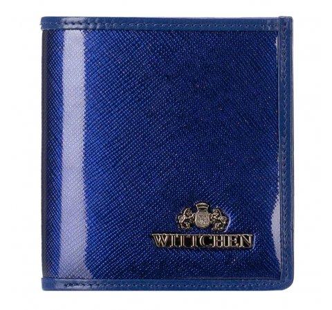 Damski portfel skórzany lakierowany, granatowy, 25-1-065-TL, Zdjęcie 1