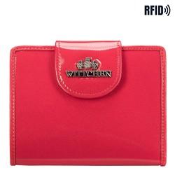 skórzany portfel damski, różowy, 25-1-362-PL, Zdjęcie 1