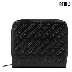 Women's small leather wallet, black, 26-1-002-1, Photo 1