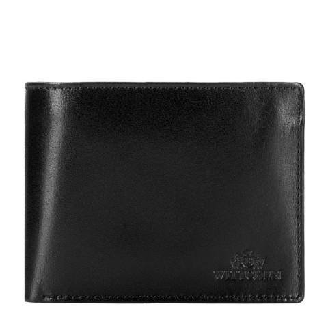 Damski portfel ze skóry niezamykany, czarny, 26-1-040-3, Zdjęcie 1