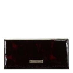 Damski portfel skórzany szylkretowy, czarno - bordowy, 26-1-418-2, Zdjęcie 1
