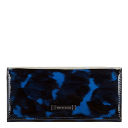 Tortoise shell patent leather wallet, blue-black, 26-1-418-7, Photo 1