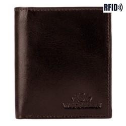 Męski portfel ze skóry mały, Brązowy, 26-1-422-4, Zdjęcie 1