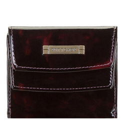 Small tortoise shell patent leather wallet, burgundy-black, 26-1-431-2, Photo 1