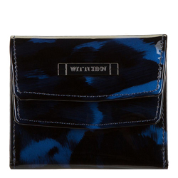 Damski portfel skórzany szylkretowy mały, niebiesko - czarny, 26-1-431-7, Zdjęcie 1
