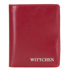 Leather RFID wallet with logo, red, 26-1-435-3, Photo 1