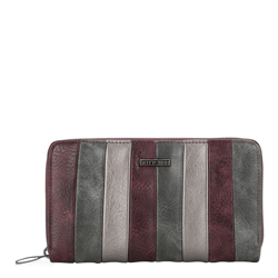 Wallet, burgundy-grey, 87-1Y-700-X1, Photo 1
