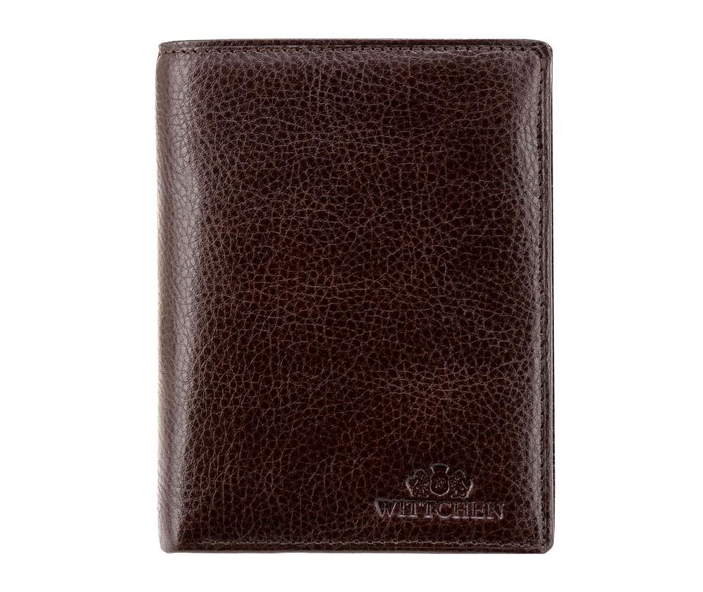 Кожаный кошелек Wittchen 21-1-027-44, коричневыйУниверсальный кошелек сделан из мягкой телячьей кожи. Логотип- герб WITTCHEN тисненый на коже. Идеален для людей ценящих удобство в использовании и практичность. Кошелек имеет подарочную упаковку с логотипом WITTCHEN, дополнительно с товаром прилагается индивидуальный Сертификат Подлинности, который подтверждает оригинальность и высокое качество продукции.<br><br>секс: унисекс<br>Цвет: коричневый<br>материал:: Натуральная кожа<br>высота (см):: 12,5<br>ширина (см):: 10
