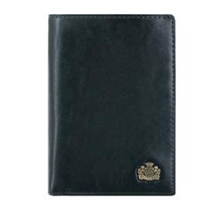 Męski portfel skórzany z podzielonym wnętrzem, granatowy, 10-1-020-N, Zdjęcie 1