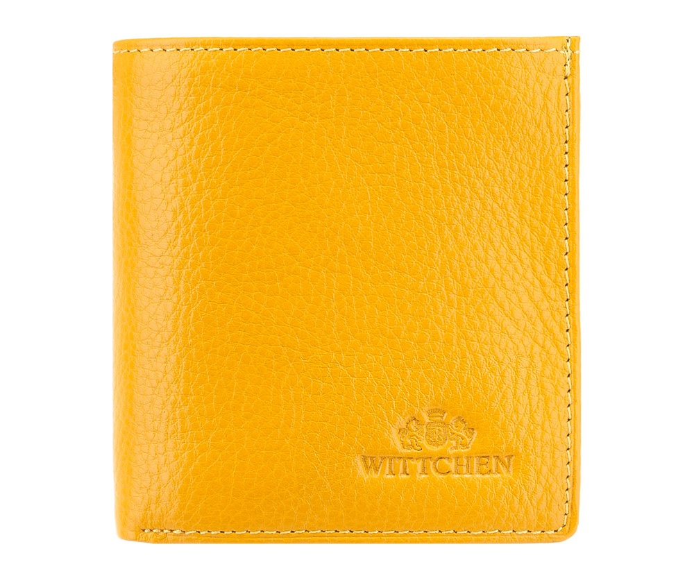Кожаный кошелекКошелёк женский из кожи представленный в коллекции Italy. Кошелёк изготовлен из высококачественной телячьей кожи, в процессе обработки кожи использованы минеральные дубильные вещества. На лицевой части кошелька размещен логотип - тиснёный значок с эмблемой Wittchen. Упакованный в подарочную фирменную упаковку с логотипом Wittchen. Модель представляет собой сочетание функциональности с актуальной классикой по доступной цене.<br><br>секс: женщина<br>Цвет: желтый<br>материал:: Натуральная кожа<br>высота (см):: 10<br>ширина (см):: 9,5