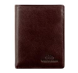 Męski portfel skórzany z rozkładanym panelem, Brązowy, 21-1-009-44, Zdjęcie 1
