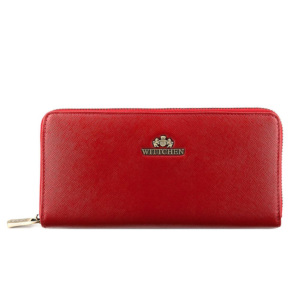 Кожаный кошелекЖенский кошелек, сделан из прочной, слегка глянцевой телячьей кожи. Логотип WITTCHEN выполнен методом тиснения на коже. Кошелек упакован в эксклюзивную упаковку - с лого комании WITTCHEN. Кошелек имеет: карман для монет на молнии; 3 кармана для купюр; 8 слотов для кредитных карт; 2 кармана.<br><br>секс: женщина<br>материал:: Натуральная кожа<br>высота (см):: 10<br>ширина (см):: 20