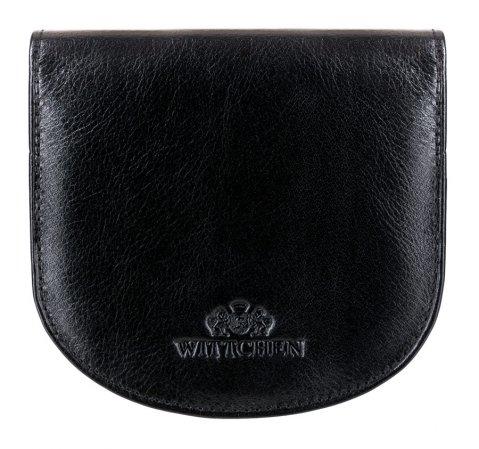 Portfel skórzany o zaokrąglonych brzegach, czarny, 21-1-043-1, Zdjęcie 1