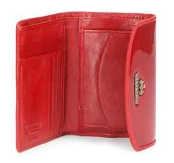 Damski portfel ze skóry elegancki, czerwony, 25-1-045-3, Zdjęcie 1