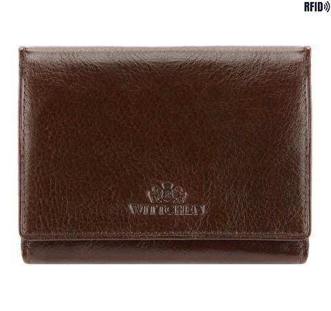 Damski portfel skórzany poziomy, czarny, 21-1-071-L1, Zdjęcie 1