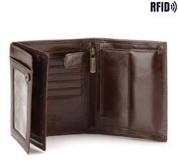 Męski portfel skórzany duży, brązowy, 21-1-139-L4, Zdjęcie 1