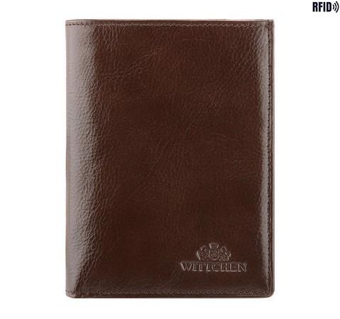 Męski portfel skórzany praktyczny, Brązowy, 21-1-265-L1, Zdjęcie 1