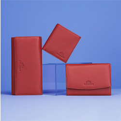 Duży skórzany portfel damski, czerwony, 02-1-052-3L, Zdjęcie 1