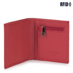 Portfel skórzany mały, czerwony, 02-1-212-3L, Zdjęcie 1