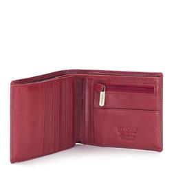 Damski portfel skórzany z fakturą średni, czerwony, 03-1-262-3, Zdjęcie 1