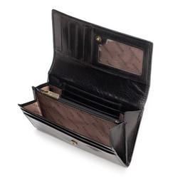 Damski portfel skórzany retro, czarny, 10-1-036-1, Zdjęcie 1