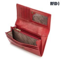 Damski portfel skórzany z kieszonką na zamek, czerwony, 10-1-036-L3, Zdjęcie 1