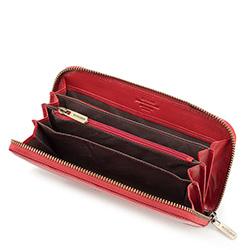 Damski portfel skórzany vintage, czerwony, 10-1-104-3, Zdjęcie 1