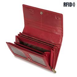Damski portfel skórzany o prostym kroju, czerwony, 14-1-052-L91, Zdjęcie 1