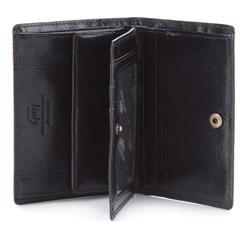 Męski portfel skórzany zapinany na zatrzask, czarny, 21-1-008-10, Zdjęcie 1
