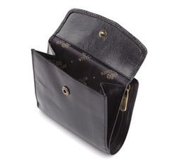 Męski portfel skórzany zapinany na napę, czarny, 21-1-010-10, Zdjęcie 1