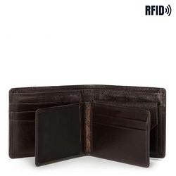Męski portfel skórzany z wyjmowanym panelem, czarny, 21-1-019-44L, Zdjęcie 1