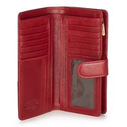 Damski portfel skórzany na napę średni, czerwony, 21-1-028-30, Zdjęcie 1