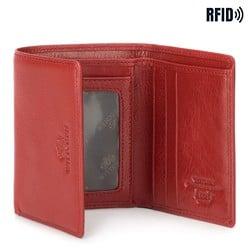 Damski portfel ze skóry mały, czerwony, 21-1-032-L3, Zdjęcie 1