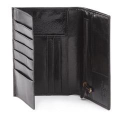 Męski portfel ze skóry bez zapięcia, czarny, 21-1-033-10, Zdjęcie 1
