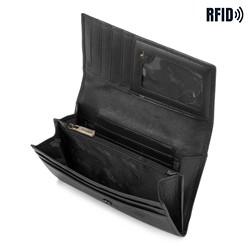 Damski portfel ze skóry klasyczny, czarny, 21-1-036-L1, Zdjęcie 1