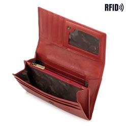 Damski portfel ze skóry klasyczny, czerwony, 21-1-036-L3, Zdjęcie 1