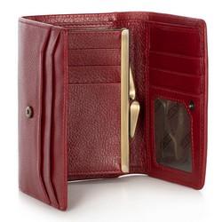 Damski portfel skórzany średni, czerwony, 21-1-062-30, Zdjęcie 1