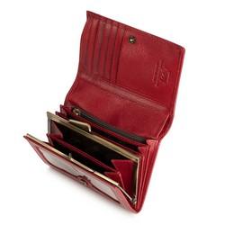 Damski portfel ze skóry średni, czerwony, 21-1-070-30, Zdjęcie 1