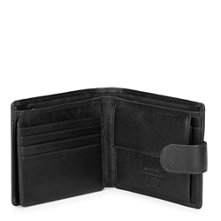 Men's leather bi-fold wallet, black, 21-1-120-10L, Photo 1
