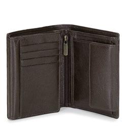 Męski portfel skórzany bez zapięcia, ciemny brąz, 21-1-221-40L, Zdjęcie 1