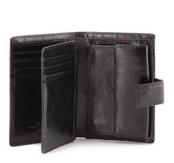 Męski portfel skórzany średni, czarny, 21-1-291-10, Zdjęcie 1