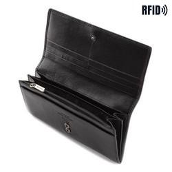 Damski portfel ze skóry duży, czarny, 21-1-333-10L, Zdjęcie 1