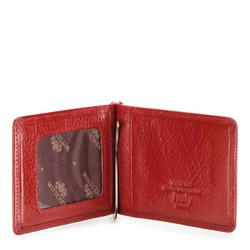 Banknotówka skórzana klasyczna, czerwony, 21-2-269-3, Zdjęcie 1
