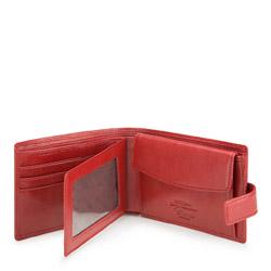 Portfel ze skóry średni, czerwony, 22-1-038-3, Zdjęcie 1