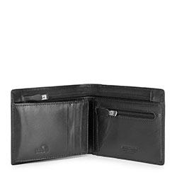 Damski portfel ze skóry niezamykany, czarny, 26-1-040-1, Zdjęcie 1