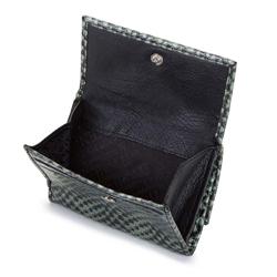 Damski portfel ze skóry lizard dwustronny, zielony, 26-1-417-1, Zdjęcie 1