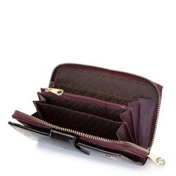 Damski portfel skórzany szylkretowy duży, brązowy, 26-1-419-2, Zdjęcie 1